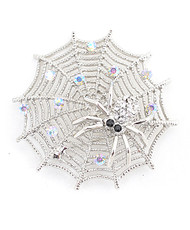 12pc. Brooch - Silver Spider on Web IMBCBR04112