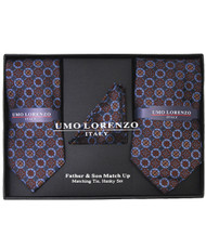 Father & Son Matching Tie & Hanky Set FSTHB-29