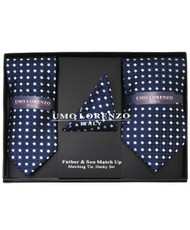 Father & Son Matching Tie & Hanky Set FSTHB-33