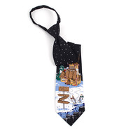 Poly Christmas Zipper Tie PZX4603-BK
