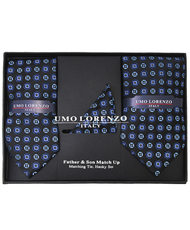 Father & Son Matching Tie & Hanky Set FSTHB-35