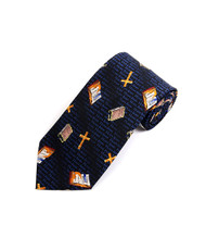 """Cross & Bible"" Novelty Tie NV4435-NV"