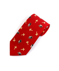 """Bible & Cross"" Novelty Tie NV4441-RD"