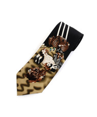 """Noah's Ark"" Novelty Tie NV13041-BK"