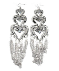 Chandelier Earrings Hearts - IMJJ2877