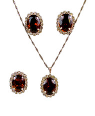 Pendant Necklace, Earrings, and Ring Set -
