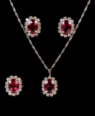 Pendant Necklace, Earrings, and Ring Set - IMJS0495PK