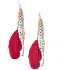 Dangle Earrings Feathers - IME12036R