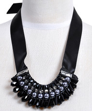 Cluster Necklace Ribbon - IMJJ6904