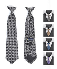 6pc Pre-Pack Boy's Microfiber Woven Clip On Tie MPBC2004