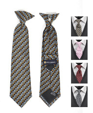 6pc Pre-Pack Boy's Microfiber Woven Clip On Tie MPBC2005