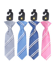 "12 Pack Assorted Boy's Microfiber Woven Clip On Tie 8"" MPBC2016"