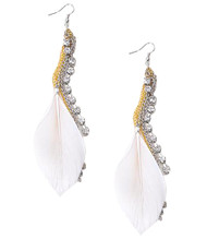 Dangle Earrings Feathers - IME12036W