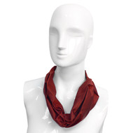 12pc Women's Polyester Scarlet Pre-Knotted Uniform Neckerchief with Adjustable Velcro
