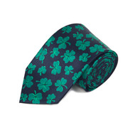 Lucky Shamrock Clovers Green Novelty Tie