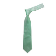 "Boy's 49"" Micro Woven Green Fashion Tie"