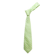"Boy's 49"" Shadow Stripes Green Fashion Tie"