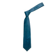 "Boy's 49"" Checkered Green Fashion Tie"