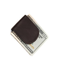 Leather Money Clip MC44BR