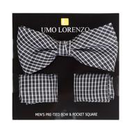Men's Bow Tie & Hanky Set BTH4044