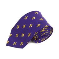 Poly Purple Floral Tie FLT01PUGD
