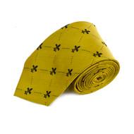 Poly Gold Fleur-de-lis Tie FLT02GDBK