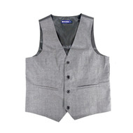6pc Men's Rayon/Polyester Gray Vests