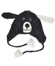 Wool Animal Hats Black Doggy - AHW100