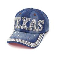 "Bling Studs ""Texas"" Denim Cap"