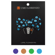 Ikat Poly Bow Lapel Pins - B10158