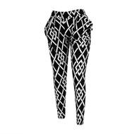 12pc Stripe Print Black & White Harem Pants