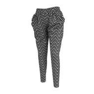 12pc Zigzag Print Black Harem Pants