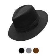 Fall/Winter Solid Color Felt Fedora Hat
