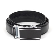 3pc Men's Dress  Auto Lock Buckle Genuine Leather Strap Waist Belt MLB6506