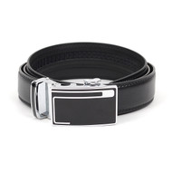 3pc Men's Dress  Auto Lock Buckle Genuine Leather Strap Waist Belt MLB6507