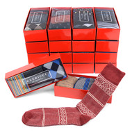 18pc Random Assorted Mens Dress Socks Gift Set (3 pairs in box)