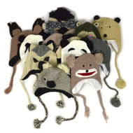 12pc Prepack Assorted Knit Animal Hats AH12ASST