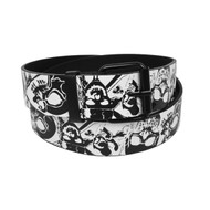 12pc Men's White Skull Buckle Belts