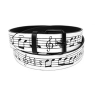 12pc Men's Music Note Buckle Belts