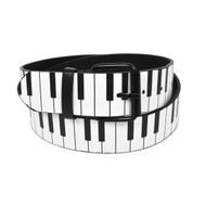 12pc Men's Piano Keys Buckle Belts