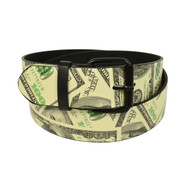 12pc Men's Beige Money Buckle Belts