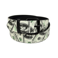 12pc Men's White Money Buckle Belts