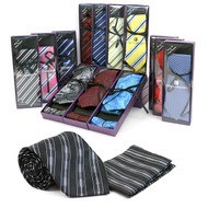 24pc Prepack Men's Tie and Pocket Square THB3000