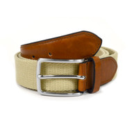 Men's Khaki Braided Belts MCB004