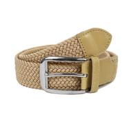 Men's Khaki Braided Elastic Belts MCB007