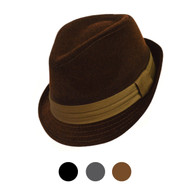 6pcs Two Sizes Fall/Winter Poly/Cotton Fedora Hats H10337