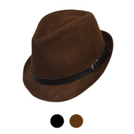 6pcs Two Sizes Fall/Winter Poly/Cotton Fedora Hats H10338