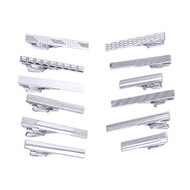 12pc Assorted Tie Bars Set TB1301SLIM
