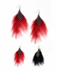 12pc Dangle Earrings Feathers - IME12033
