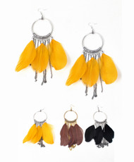 Dangle Earrings Feathers - IME12034